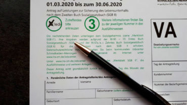 COVID 19 – Erleichterter Zugang ins SGB II – Antragsunterlagen hier